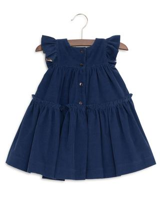 Ruffled corduroy dress MONNALISA