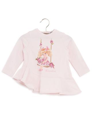 T-Shirt mit Schoss und Mädchen-Print MONNALISA