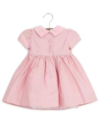 Festive baby dress with rose and cristals MONNALISA