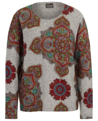 Paisley pattern wool blend jumper PRINCESS
