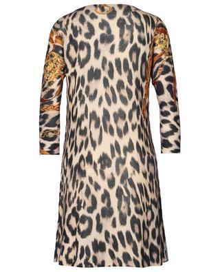 Mittellanges Woll- und Kaschmirkleid mit Leopardenprint PRINCESS
