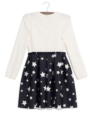 Star-print bi-material dress MONNALISA