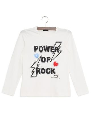 Langarm-T-Shirt mit Kristallen Power Of Rock MONNALISA