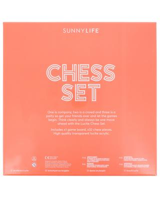 Jeux d'échecs Lucite SUNNYLIFE