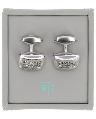 Lattice crystal clad cufflinks TATEOSSIAN