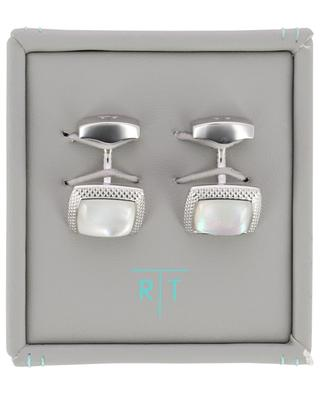 Moonlight Quadrato square cufflinks with mother-of-pearl TATEOSSIAN