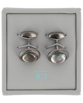 Moonlight Bullseye cufflinks with quartz TATEOSSIAN