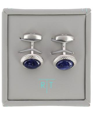 Bullseye cufflinks with sodalite TATEOSSIAN