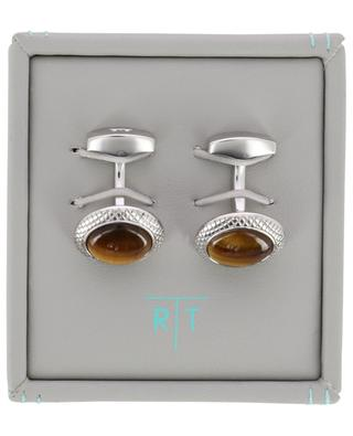 Bullseye cufflinks with tiger eye TATEOSSIAN
