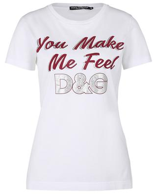 T-Shirt mit Print You Make Me Feel D&G DOLCE & GABBANA