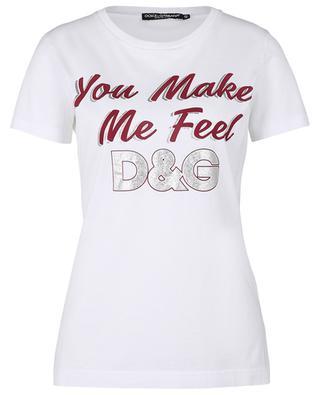 T-shirt imprimé You Make Me Feel D&G DOLCE & GABBANA