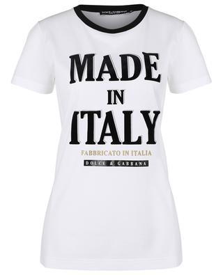 T-Shirt mit Logoprint MADE IN ITALY - FABBRICATO IN ITALIA DOLCE & GABBANA