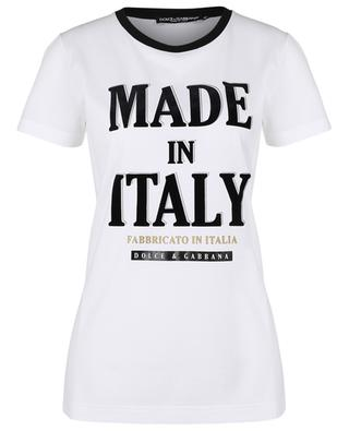 MADE IN ITALY - FABBRICATO IN ITALIA logo print T-shirt DOLCE & GABBANA