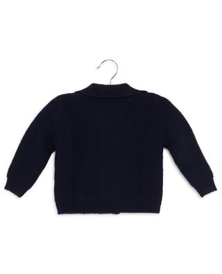 Double-breasted garter stitch cardigan IL GUFO