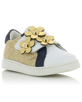 Sneakers aus Leder mit Glitter LITTLE MARC JACOBS
