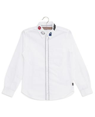 Sure! Mr. Marc embroidered shirt LITTLE MARC JACOBS