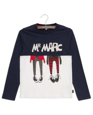 Zweifarbiges Langarm-T-Shirt mit Print Mr Marc LITTLE MARC JACOBS