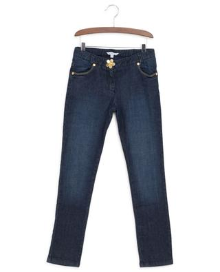 Slightly distressed jeans with flower LITTLE MARC JACOBS