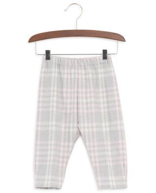 Glittering check flannel trousers IL GUFO