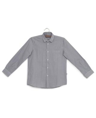 Finely striped cotton shirt IL GUFO