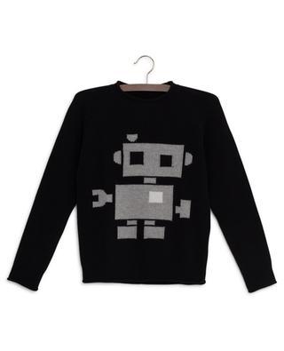 Jacquard-Pullover mit Roboter IL GUFO