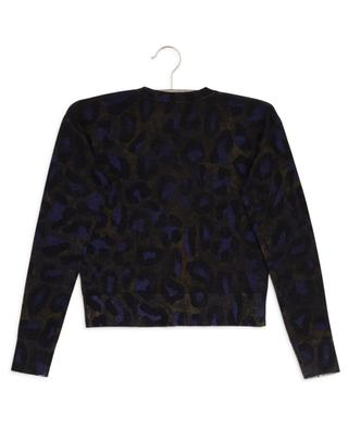 Cardigan aus Wolle mit Leoparden-Print ZADIG & VOLTAIRE