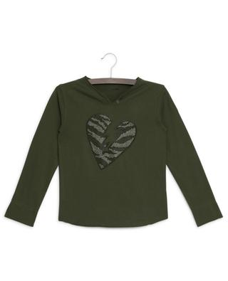 Boxo long-sleeved T-shirt with heart ZADIG & VOLTAIRE