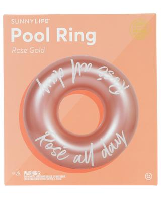 Rosé all day Rose Gold slogan pool ring SUNNYLIFE