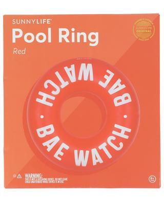 Schwimmreifen mit Slogan Bae Watch Red SUNNYLIFE