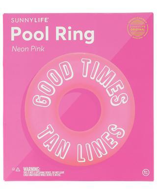 Slogan-Schwimmreifen Good Times Tan Lines SUNNYLIFE