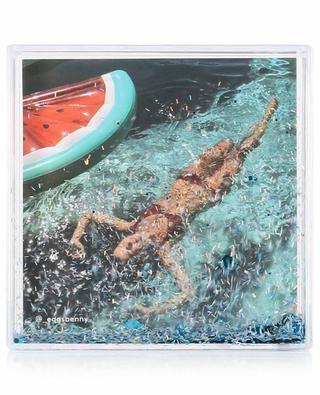 Quadratischer Bilderrahmen Glitter Frame Shell SUNNYLIFE
