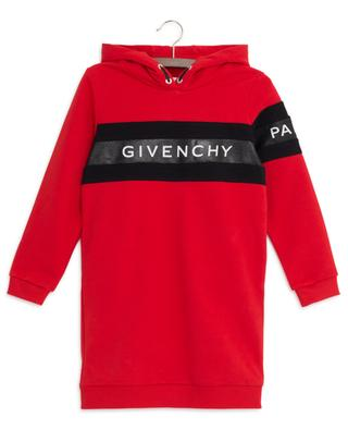 Glitter logo print bicolour sweat dress GIVENCHY