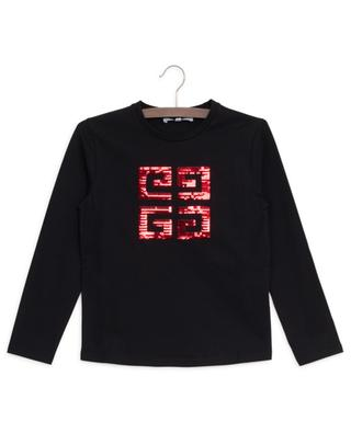 Langarm-T-Shirt mit Pailletten 4G GIVENCHY
