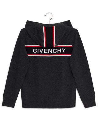 4G stripe adorned hooded cardigan GIVENCHY