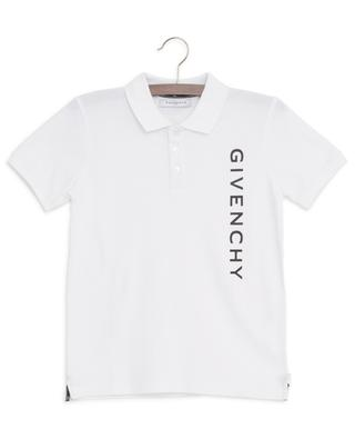 Logo print short sleeved polo shirt GIVENCHY