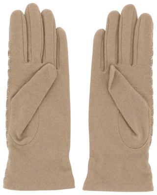 Handschuhe aus Strick und Leder AGNELLE