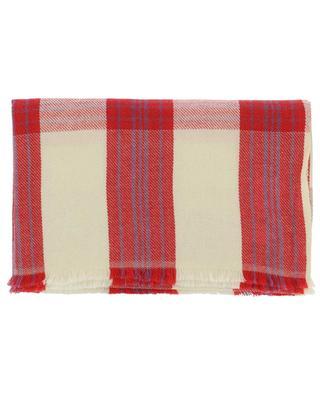 Écharpe à carreaux en laine et cachemire Check WARM ME