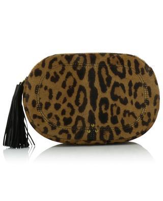 Ovale Tasche aus Kalbshaarleder mit Leopardenprint Marc JEROME DREYFUSS