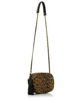 Sac ovale en cuir poulain imprimé léopard Marc JEROME DREYFUSS