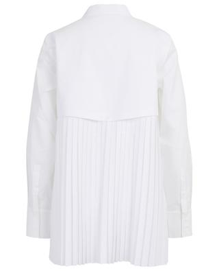 Maguro shirt with piqué cotton and pleated back HANA SAN
