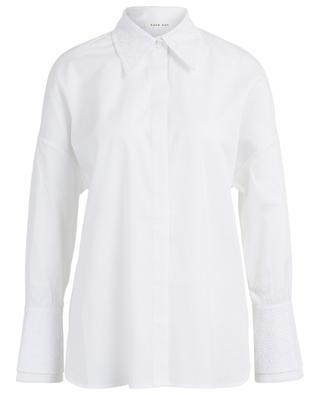 Hemd aus Popeline mit Spitze Fuku HANA SAN