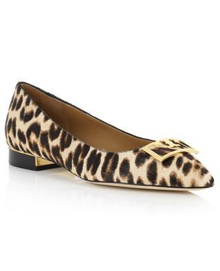 Gigi 20 mm pointy toe leopard print ballet flats TORY BURCH