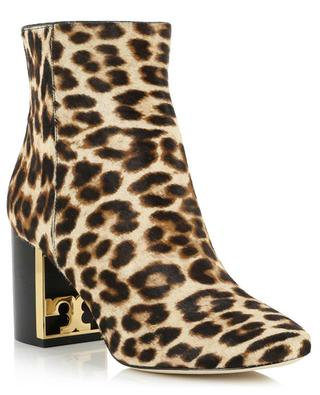 Bottines à talon imprimées léoprard Gigi 70MM TORY BURCH