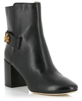 Kira 70MM heeled monogrammed ankle boots TORY BURCH