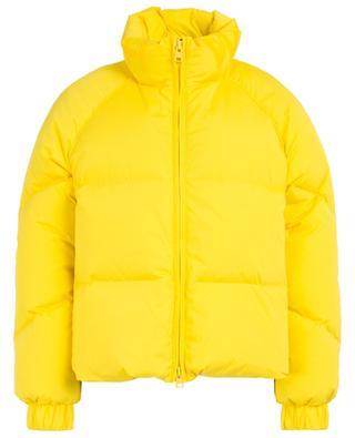 Aurora Puffy short down jacket twith logo print WOOLRICH