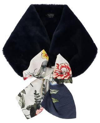 Kunstpelzschal mit Halstuchdetails LEA CLEMENT