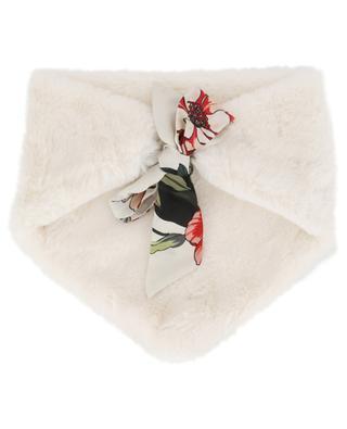 Col triangulaire en fourrure synthétique avec foulard LEA CLEMENT