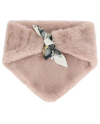 Triangular faux fur collar with shawl LEA CLEMENT