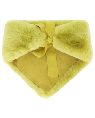 Triangular fur collar with suede LEA CLEMENT
