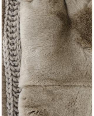 Röhrenschal mit Strick und Pelz LEA CLEMENT